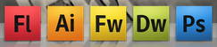 Adobe Creative Suite in OS X Dock